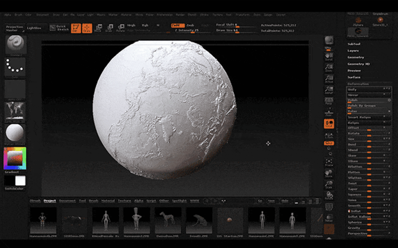 3Dプリントの地球